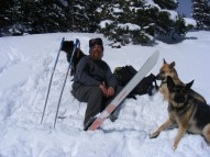 Skiing with the pack, Old Monarch Pass