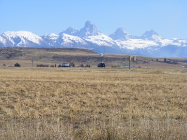 The west side of the Grand Tetons