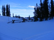 Monarch Ski Area is directly adjacent to the Old Monarch Pass road