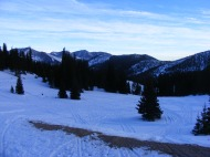 East from Old Monarch Pass. Despite the tracks, snowmobile use is relatively light