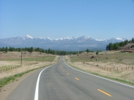 South of Pagosa Springs, Colorado along U.S. 84 looking north towards the San Juan mountains and the Continental Divide