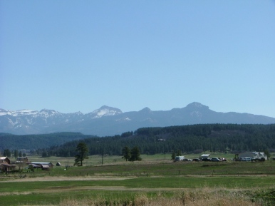 Looking at the South San Juan mountains near Chromo, Colorado