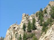 Cliffs in Cimarron Canyon
