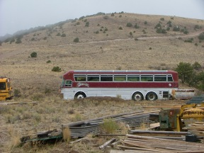When the ambassador wolves were traveling, this bus was once home on the road for them and their caretakers