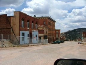 Some old buildings undergoing restoration in Victor