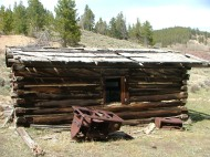The ruins of the Hughes Mine cabin