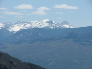 Close up of the San Juan Mountains that form the headwaters to Big Blue Creek and Cimarron River