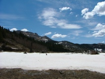 May, 2006. Snow lingers at the summit between Indian and East Middle Creeks