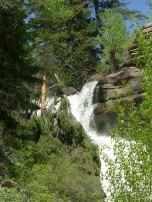Currecanti Creek's rapid descent into the Black Canyon of the Gunnison