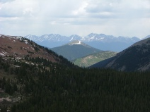 From Gunsight Pass, the Elk Mountains in the distance