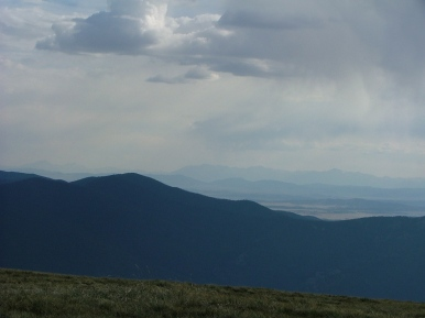 Distant view from the Tarryall Mountains