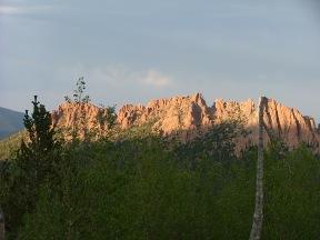 Evening sunlight in the Lost Creek Wilderness