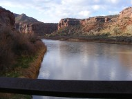Up the Gunnison River towards the mouth of Dominguez Canyon