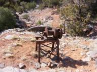 Five ton hand winch, long abandoned