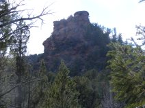 Sandstone butte above my camp