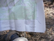 Me resting and studying map