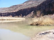 The Gunnison River at the mouth of Big Dominguez Canyon