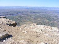 The Colorado River cuts through the Grand Valley