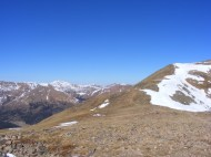 Snow-free ridge calls for exploring