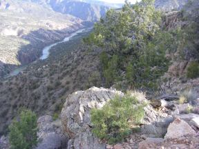 My destination for the evening, the Gunnison Gorge above the Ute Trail