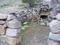 The remnants of an old structure within the Gunnison Gorge