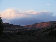 Night is arriving in the Gunnison Gorge