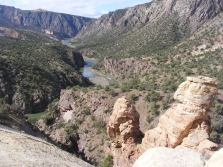 The Gunnison River below the sandstone spur