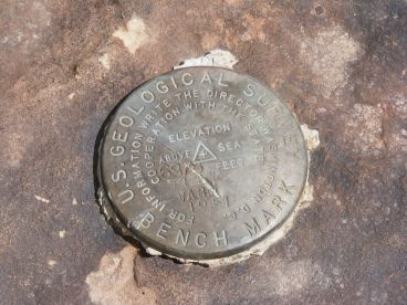 Just north of the Ute Trail is this benchmark