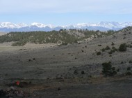 The classic Mission: Wolf view of the Sangre de Cristo chain