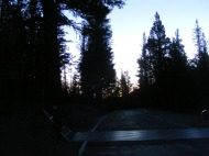 At Ebbetts Pass, looking east at dawn