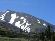 Switchbacks climbing Mount Belford
