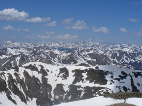 The Sawatch Range north of Mount Belford