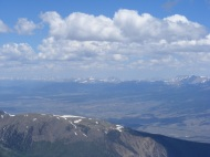 From Mount Belford, the distant Mosquito Range