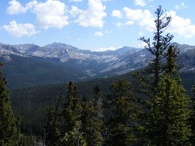 Broad view of upper Texas Creek