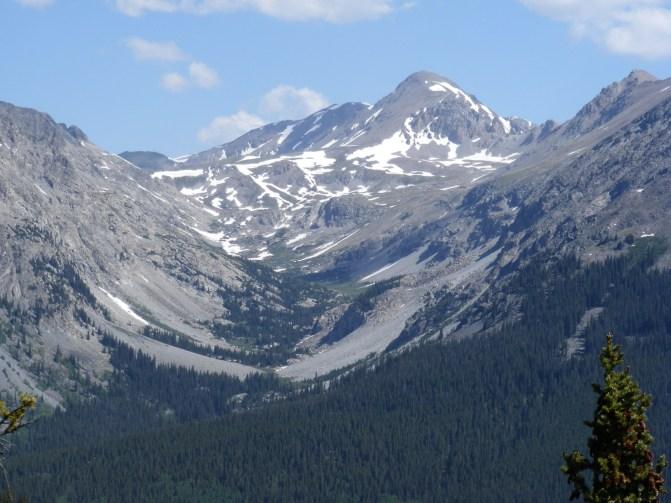 Classic U-shaped valley formed by glaciers, upper Texas Creek, Sawatch Range