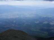 Looking east from Mount Shavano, the Arkansas River, the City of Salida and the downstream Bighorn Sheep Canyon (nee Arkansas River Canyon) are in view