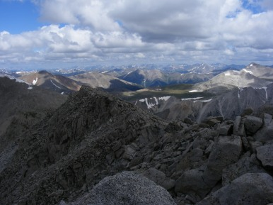 From Mount Shavano the Sawatch Range stretches out