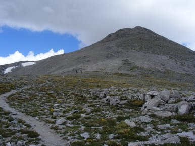 Mount Shavano viewed from the saddle just above the Angle of Shavano