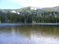 One of the Waterdog Lakes in mid-July