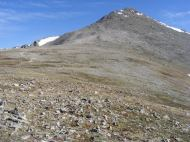 The peak of Mount Shavano from the saddle