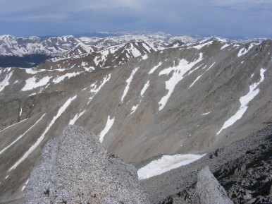 The Rocky Mountains as seen from Mount Shavano