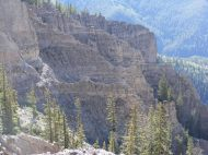 Even mountain goats would be challenged moving about these cliffs in the West Elk Mountains