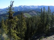 The West Elk Mountains resplendent with a carpet of verdure