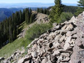 The view to the south from Bonfisk Peak