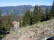 The West Elk Mountains to the northwest of Bonfisk Peak