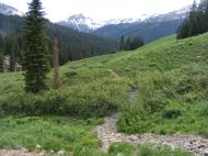 The lush Elk Mountains along the West Maroon Pass Trail