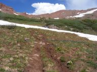 West Maroon Pass is in sight from the trail
