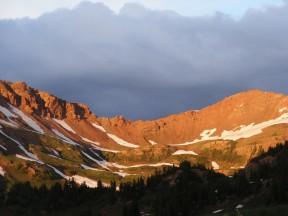 Sunset on West Maroon Pass