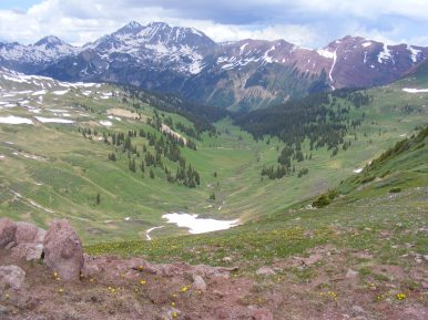 Hagerman and Snowmass Peaks above Hasley Basin