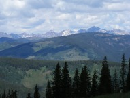 Distant Elk Mountains as seen from the Doctor Park Trail